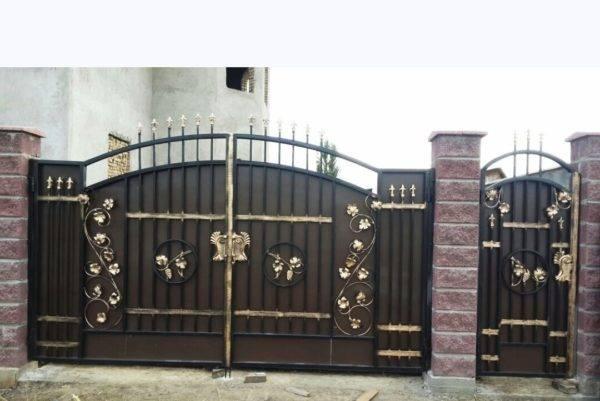 Кованые ворота V-16