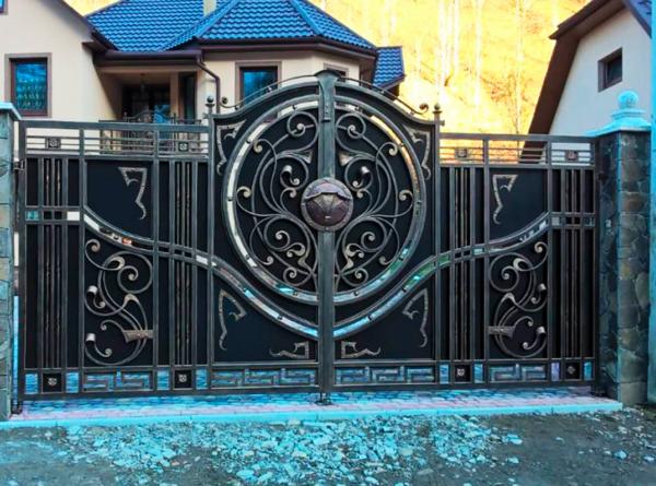 Кованые ворота V-46