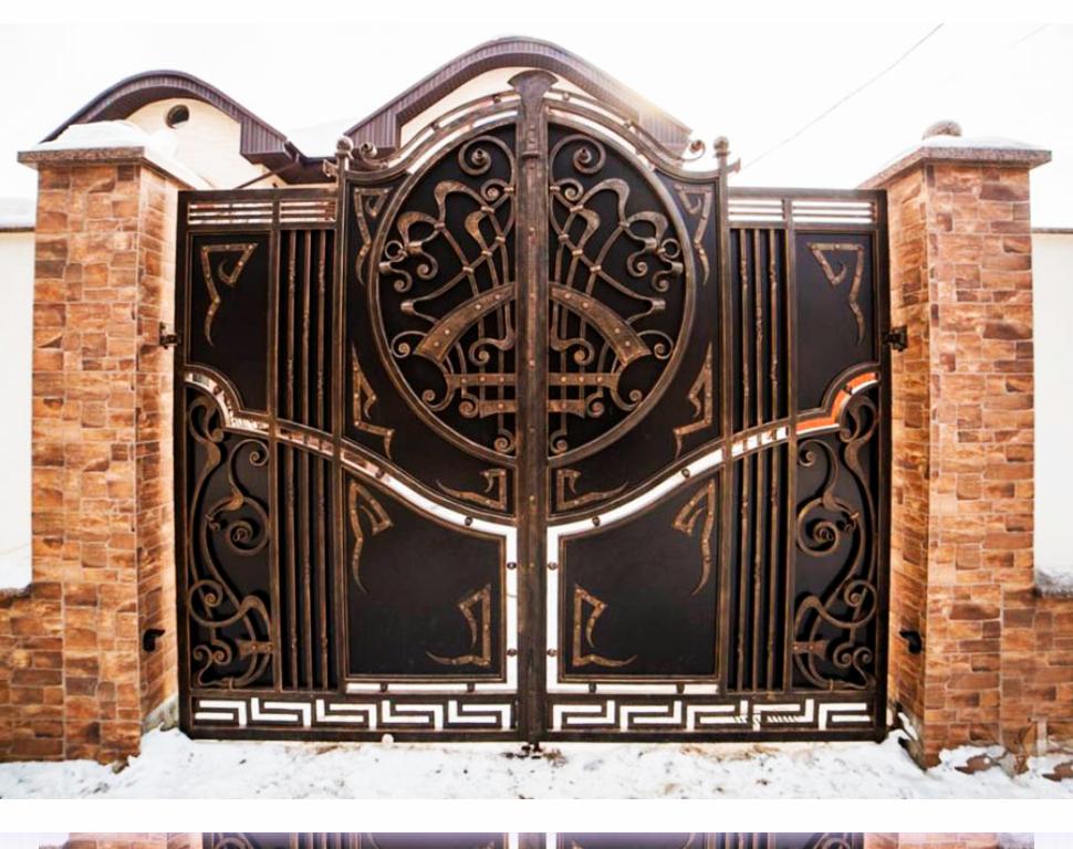 были оригинальные кованые ворота фото наиболее