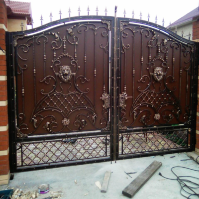 Кованые ворота V-25