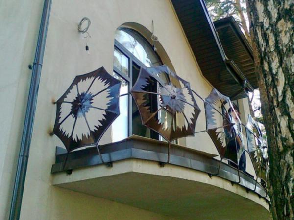 Кованые балконы Б26