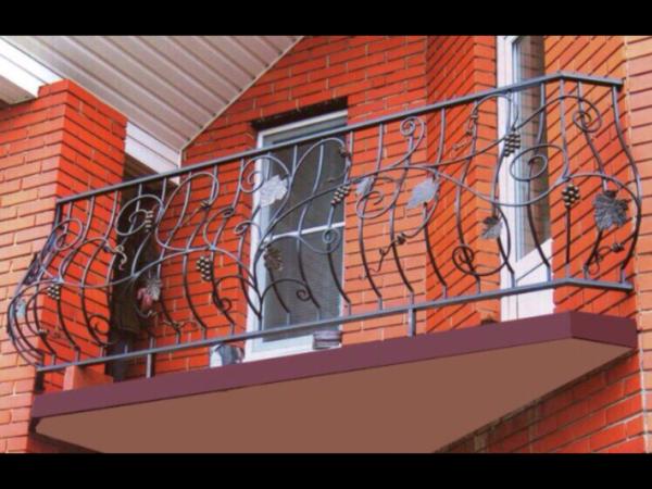 Кованые балконы Б35