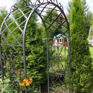 Кованая садовая арка А-14
