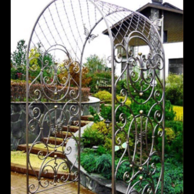 Кованая садовая арка А-11