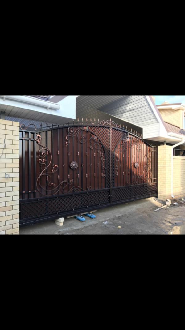 Кованые ворота V-53