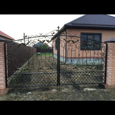 Кованые ворота V-54