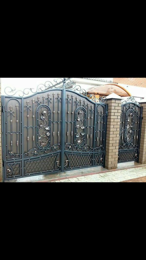 Кованые ворота V-56