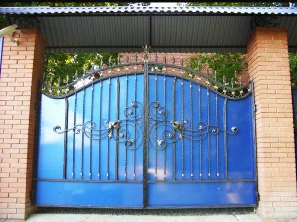 Кованые ворота V-11