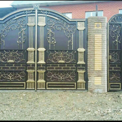 Кованые ворота V-102