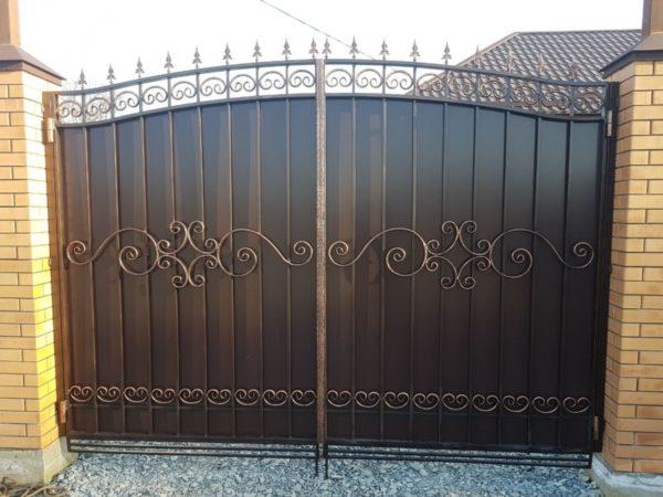 Кованые ворота V-83