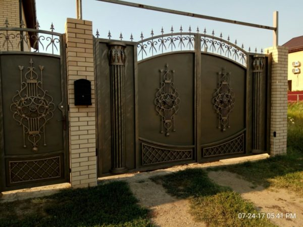 Кованые ворота V-85