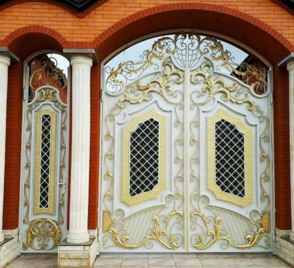 Кованые ворота V-88