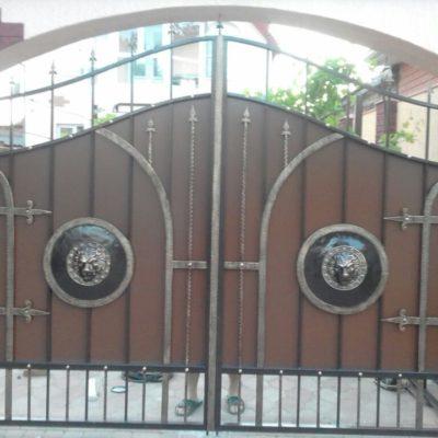 Кованые ворота V-114