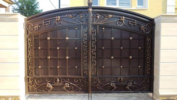 Кованые ворота V-117