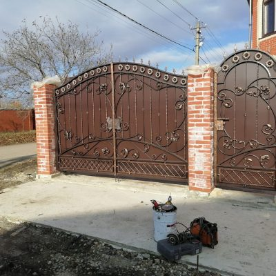 Кованые воротаV-118