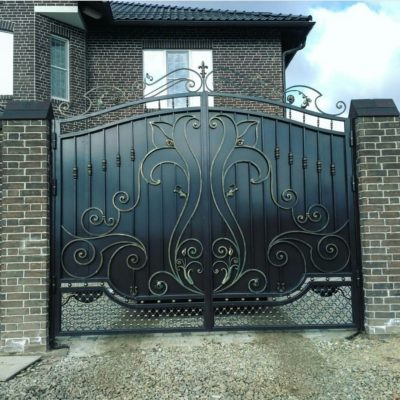 Кованые ворота V-110