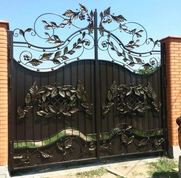 Кованые ворота V-115