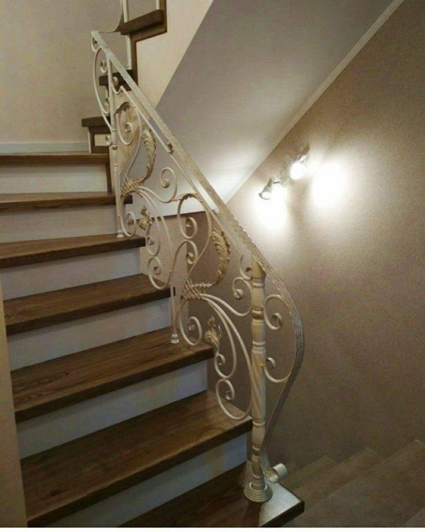Кованые перила для балкона, лестниц, крыльца П-147