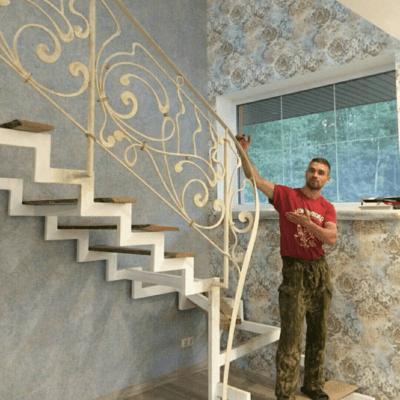 Кованые перила для балкона, лестниц, крыльца П -151