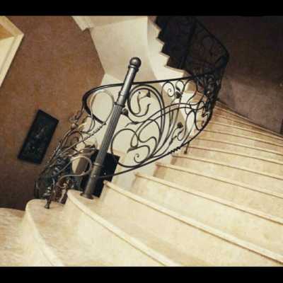 Кованые перила для балкона, лестниц, крыльца П-154
