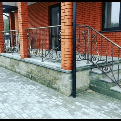Кованые перила для балкона, лестниц, крыльца П-155