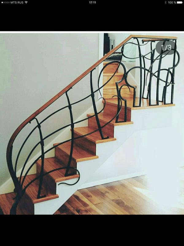Кованые перила для балкона, лестниц, крыльца П-156