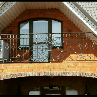 Кованые перила для балкона, лестниц, крыльца П-161