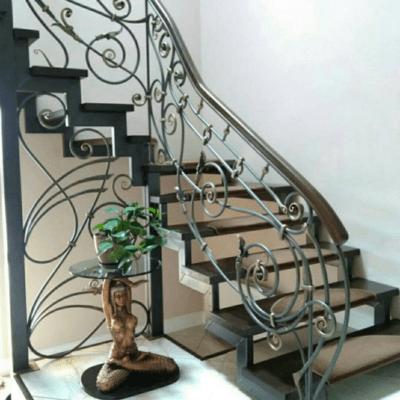 Кованые перила для балкона, лестниц, крыльца П-160