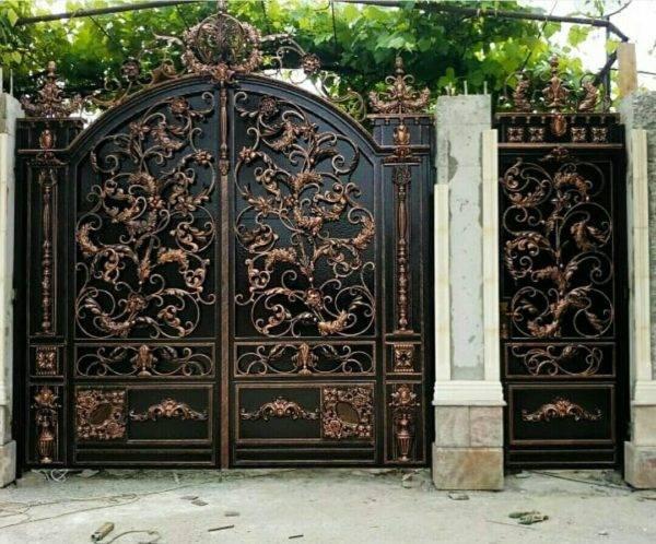 Кованые ворота V-120