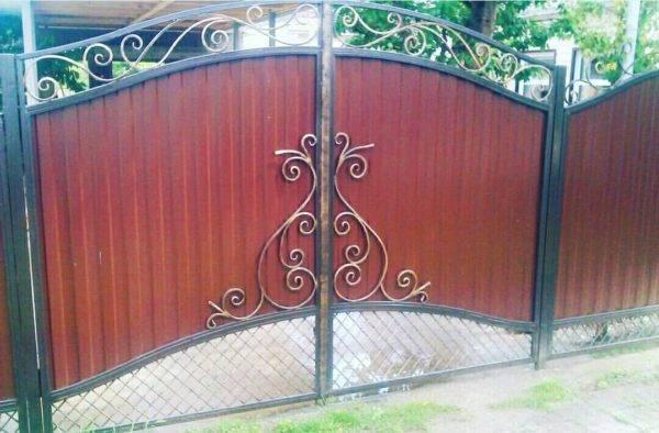 Кованые ворота V-119