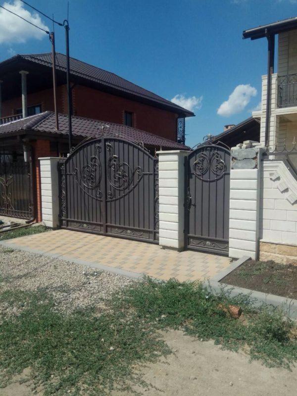 Кованые ворота V-127