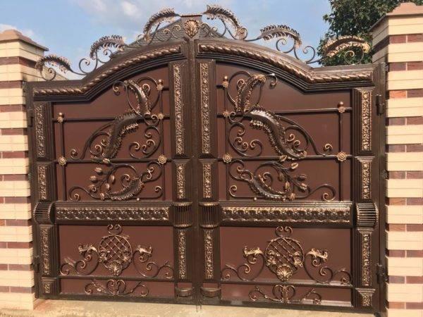 Кованые ворота V-134