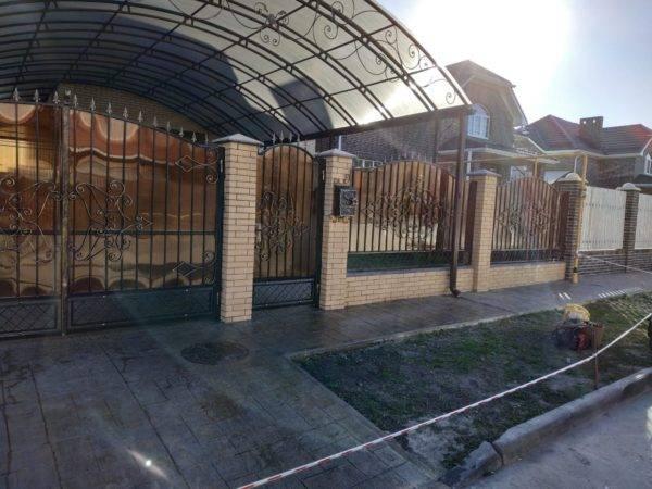 Кованый забор зс-64