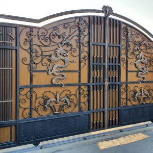 Кованые ворота V200