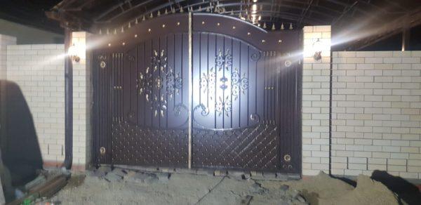 Кованые ворота V-186