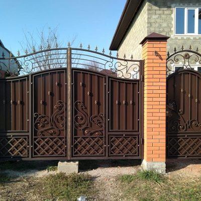 Кованые воротаV-193