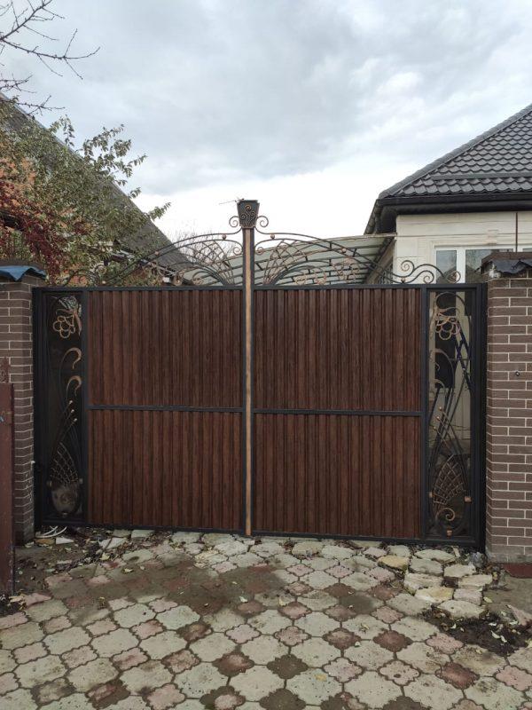 Кованые ворота V-205