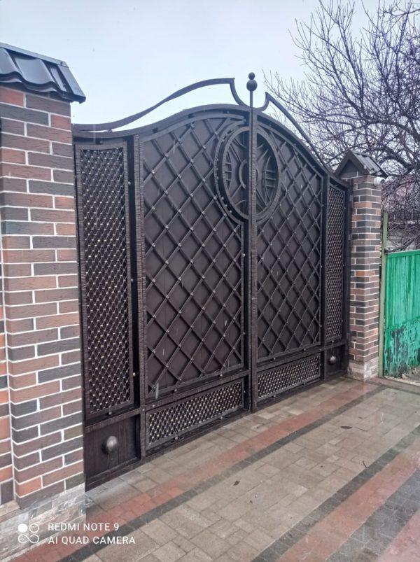Кованые ворота V-210